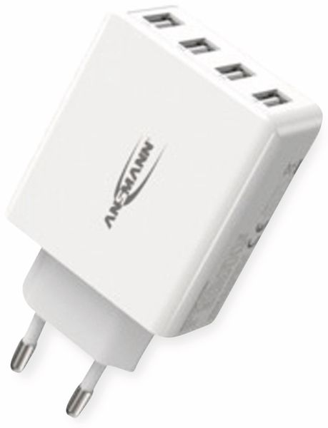 USB-Ladegerät ANSMANN HC430, 30 W, 5 V, 3 A, 4-Port, weiß - Produktbild 7