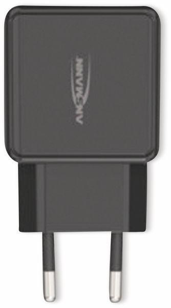 USB-Ladegerät ANSMANN HomeCharger HC218PD, 5 - 12V, 3000 mA, schwarz