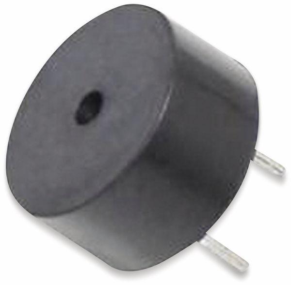 Piezo-Schallwandler, Summer 5 V, 85 dB, RM 5,08, piepsend, Printmontage