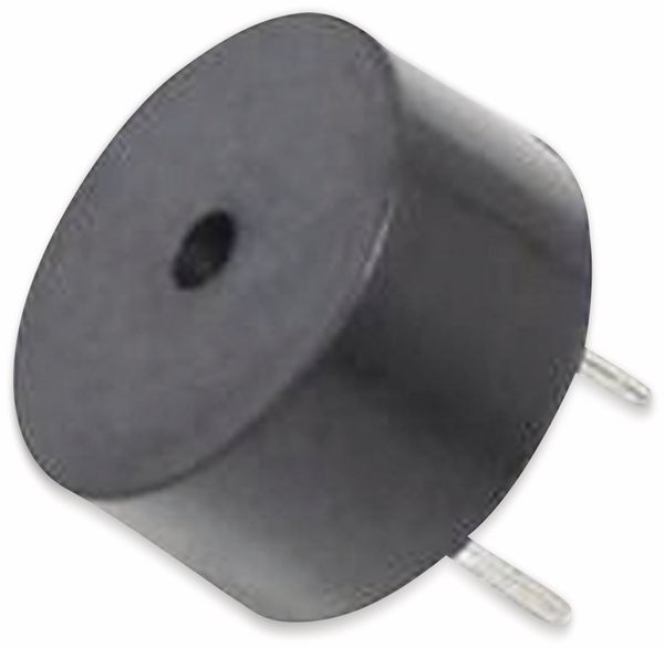 Piezo-Schallwandler, Summer 12 V, 85 dB, RM 5,08, piepsend, Printmontage