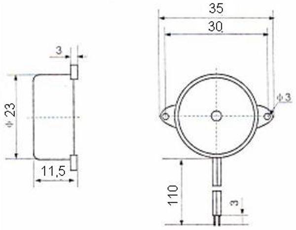 Piezo-Schallwandler, Summer 3..24V, 90 dB, piepsend - Produktbild 2