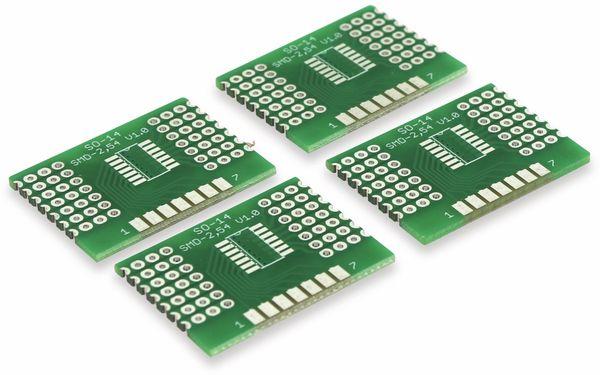 Adapterplatine SO-14, 4-fach, RM2,54 - Produktbild 7