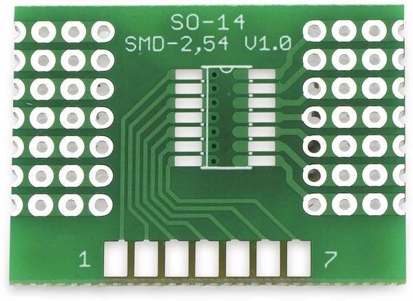 Adapterplatine SO-14, 4-fach, RM2,54 - Produktbild 8
