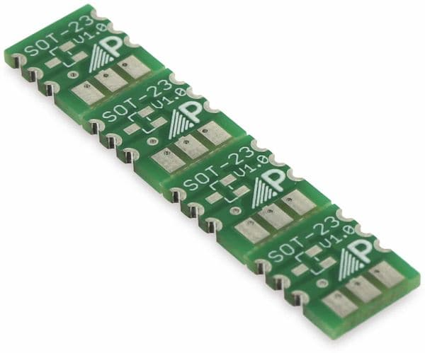 Adapterplatine SOT23, 4-fach, RM2,54