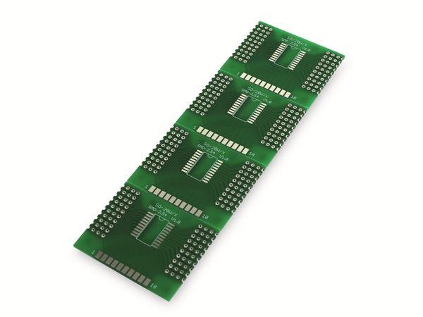 Adapterplatine SO-20W/X, 4-fach, RM2,54 - Produktbild 2
