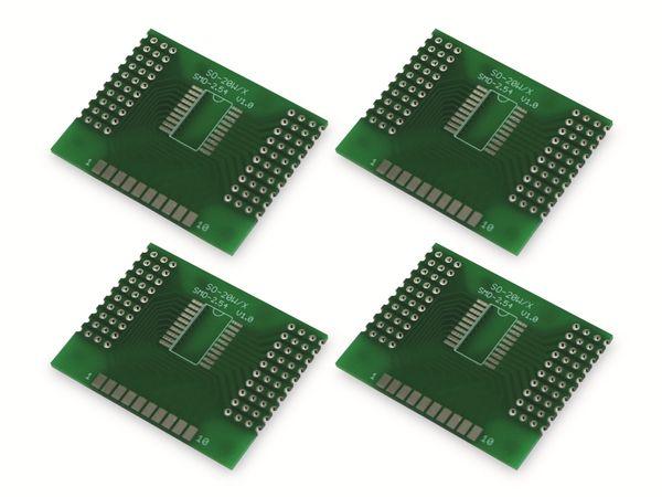 Adapterplatine SO-20W/X, 4-fach, RM2,54 - Produktbild 4