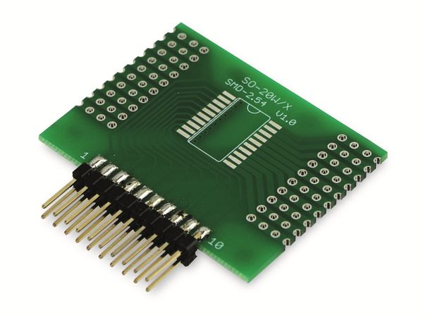 Adapterplatine SO-20W/X, 4-fach, RM2,54 - Produktbild 6