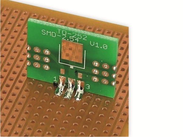 Adapterplatine TO-252, 4-fach, RM2,54