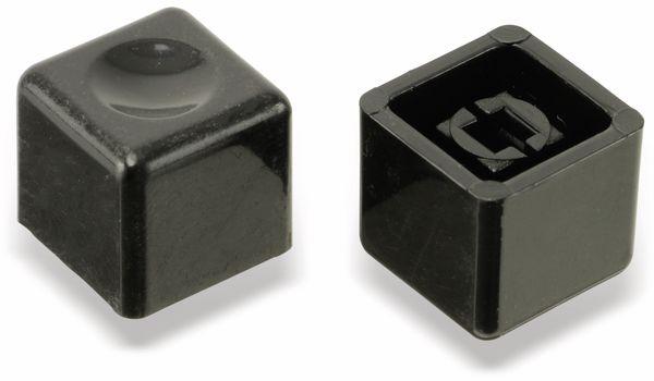 Druckknöpfe, eckig, schwarz, 10 Stück