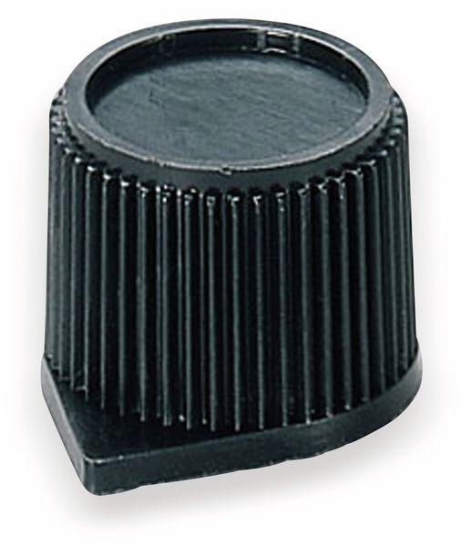 Drehknopf OKW A1310560, mit seitl. Schraubbefestigung für 6mm Achse