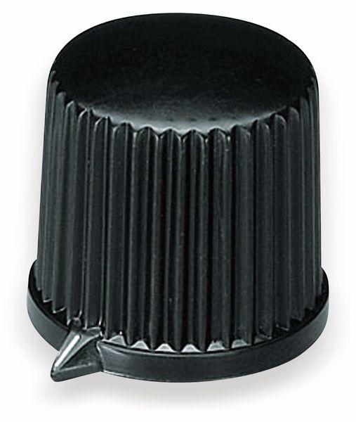 Drehknopf OKW A1312560, mit seitl. Schraubbefestigung für 6mm Achse
