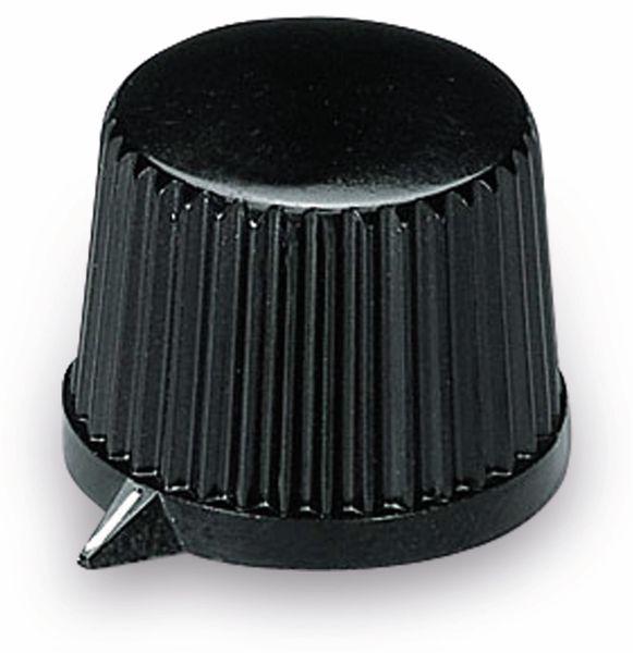 Drehknopf OKW A1313560, mit seitl. Schraubbefestigung für 4mm Achse