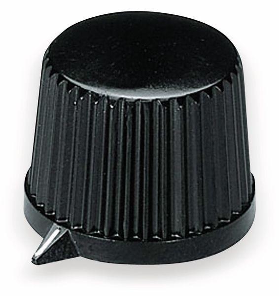 Drehknopf OKW A1313560, mit seitl. Schraubbefestigung für 6 mm Achse