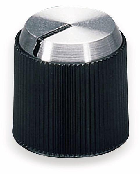 Drehknopf OKW A1314240, mit seitl. Schraubbefestigung für 4 mm Achse