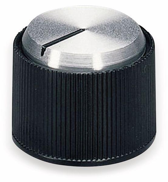 Drehknopf OKW A1318260, mit seitl. Schraubbefestigung für 6 mm Achse