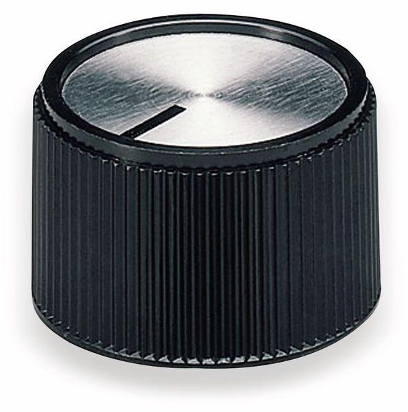Drehknopf OKW A1320260, mit seitl. Schraubbefestigung für 6 mm Achse