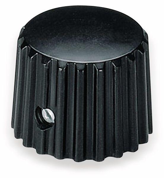 Drehknopf OKW A1321160, mit seitl. Schraubbefestigung für 6 mm Achse