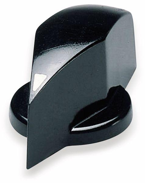 Drehknopf OKW A1324860, mit seitl. Schraubbefestigung für 6 mm Achse