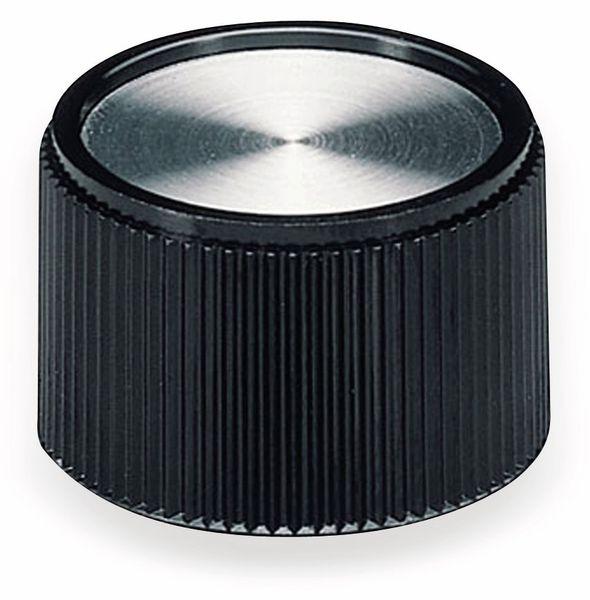Drehknopf OKW A1328160, mit seitl. Schraubbefestigung für 6 mm Achse