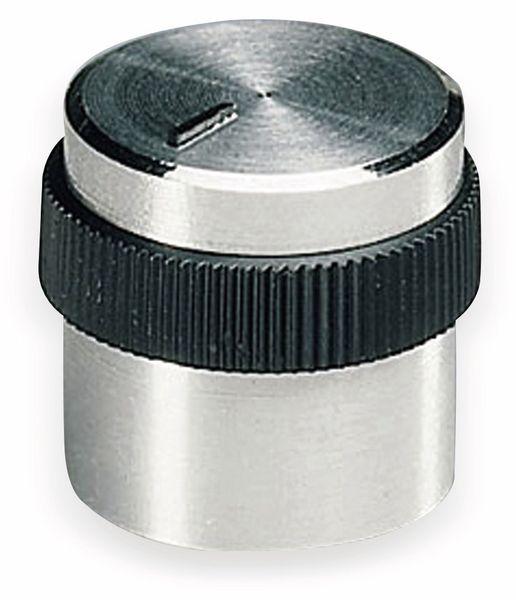 Drehknopf OKW A1416449, mit seitl. Schraubbefestigung für 4 mm Achse
