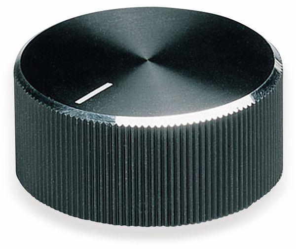 Drehknopf OKW A1418260, mit seitl. Schraubbefestigung für 6 mm Achse