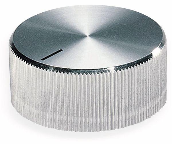 Drehknopf OKW A1418261, mit seitl. Schraubbefestigung für 6 mm Achse