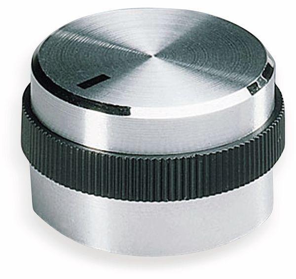 Drehknopf OKW A1421469, mit seitl. Schraubbefestigung für 6 mm Achse