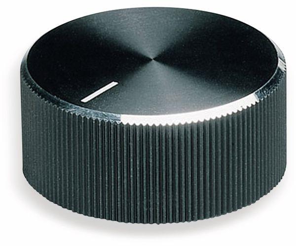Drehknopf OKW A1422260, mit seitl. Schraubbefestigung für 6 mm Achse