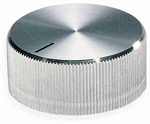 Drehknopf OKW A1422261, mit seitl. Schraubbefestigung für 6 mm Achse