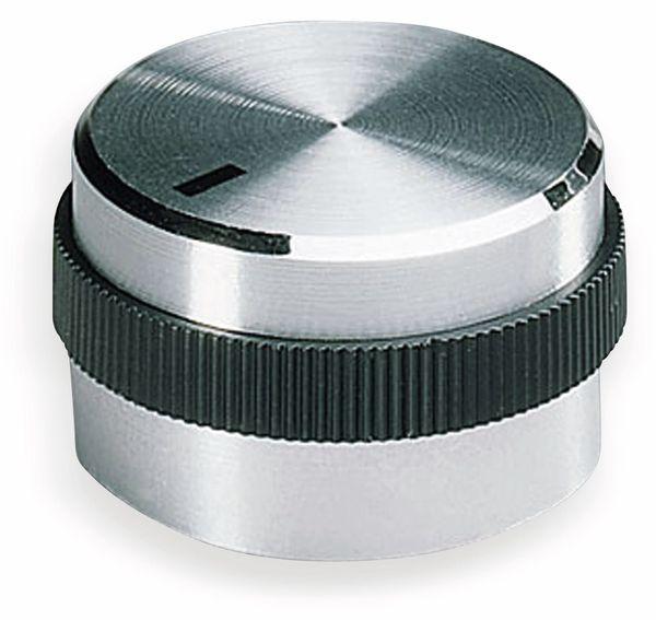 Drehknopf OKW A1422469, mit seitl. Schraubbefestigung für 6 mm Achse