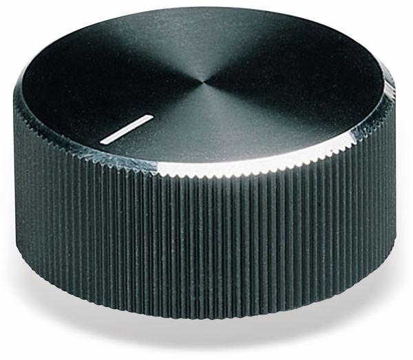 Drehknopf OKW A1432260, mit seitl. Schraubbefestigung für 6 mm Achse