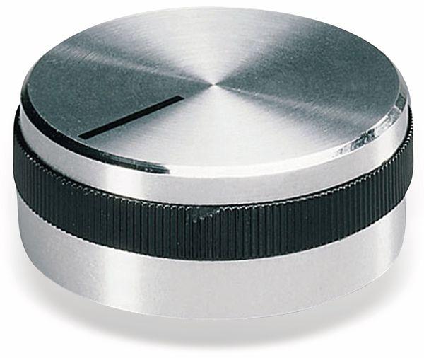 Drehknopf OKW A1432469, mit seitl. Schraubbefestigung für 6 mm Achse