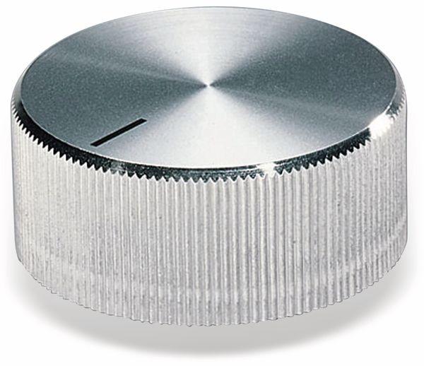 Drehknopf OKW A1438261, mit seitl. Schraubbefestigung für 6 mm Achse
