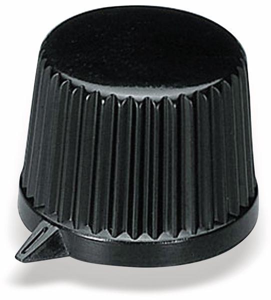 Drehknopf OKW A1613560, mit seitl. Schraubbefestigung für 6 mm Achse