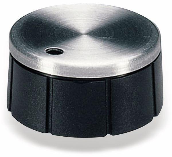 Drehknopf OKW A1624260, mit seitl. Schraubbefestigung für 6 mm Achse