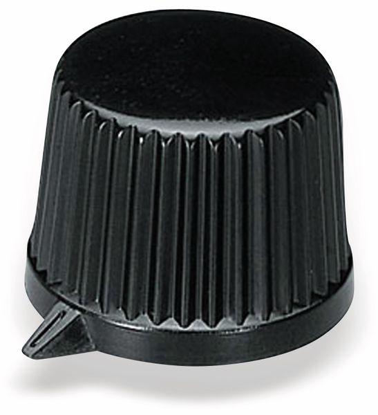 Drehknopf OKW A1685540, mit seitl. Schraubbefestigung für 4 mm Achse