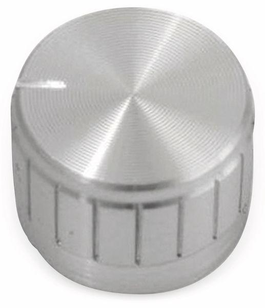 Aluminium-Drehknopf mit Zeigernase, 23x17 mm, silber