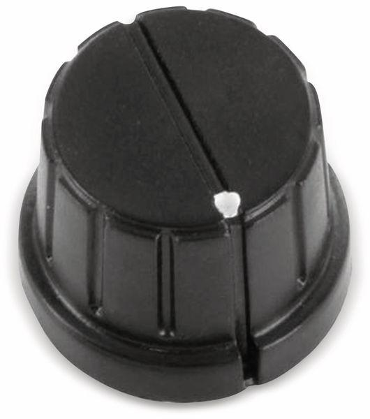 Drehknopf 20 x 15 mm Kunststoff schwarz