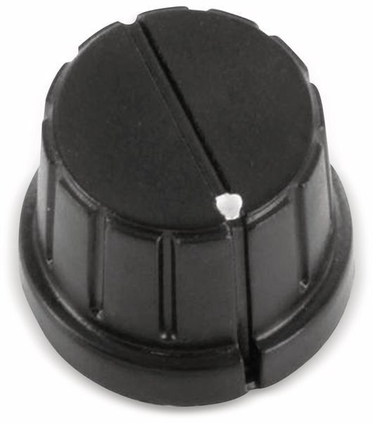 Drehknopf 24 x 16 mm Kunststoff schwarz