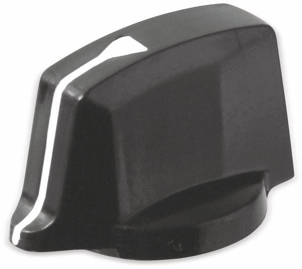 Drehknopf, Ø23x19 mm, Achse Ø6 mm, Länge 32 mm