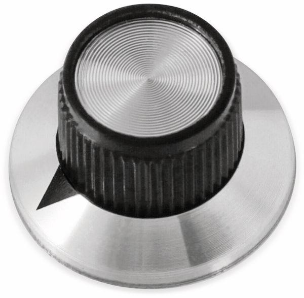 Drehknopf, 24x14 mm, Ø6 mm, ohne Skala, Kunststoff Alu