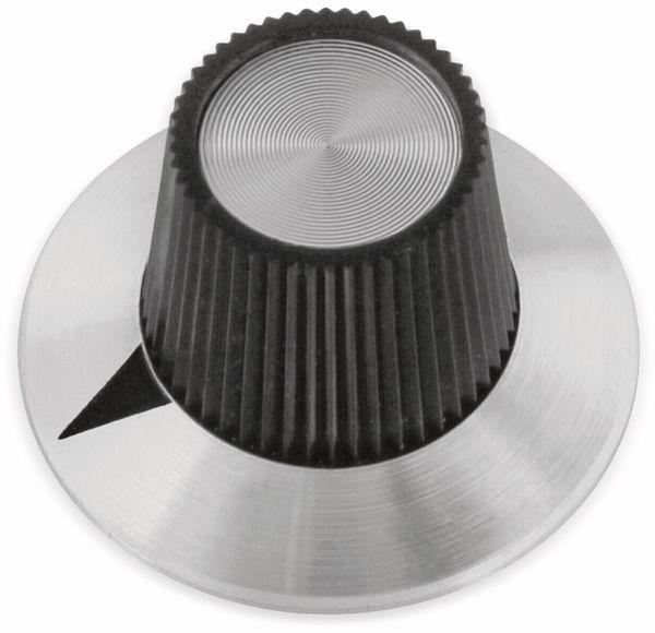 Drehknopf, 29x18 mm, Ø6 mm, ohne Skala, Kunststoff Alu