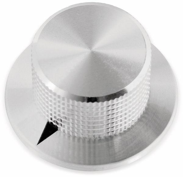 Drehknopf, 38x19 mm, Ø6 mm, ohne Skala, Kunststoff Alu