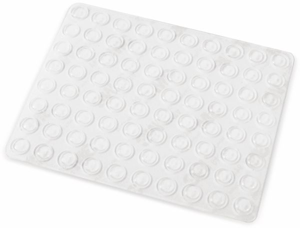 Gerätefüße, Gummi, selbstklebend, Ø8x2mm, transparent, 80-tlg