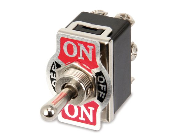 Kippschalter KN3(C)-223A, 2-polig, (ON)/OFF/(ON) - Produktbild 1
