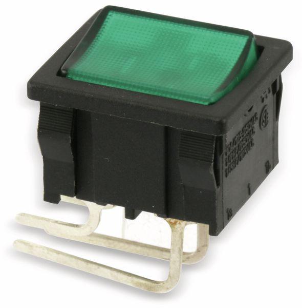 Kontroll-Wippenschalter EVEREL A4C831E, EIN/AUS, grün