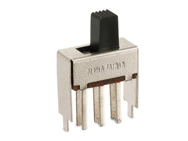 Schiebeschalter ALPHA SS-70020-0202-7.5T-NN, 2P2T, 3 A/125 V