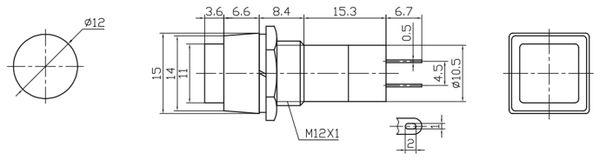 Einbau-Drucktaster PBS-12B - Produktbild 2