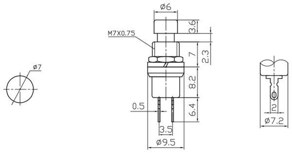Miniatur-Drucktaster - Produktbild 2