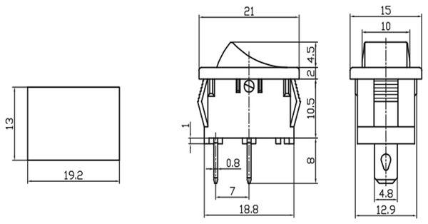 Wippenschalter MRS-101A - Produktbild 2